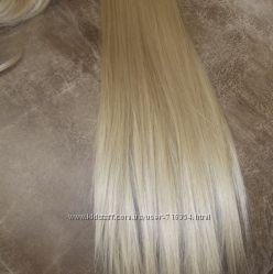 Новый накладной хвост блонд 613 в упаковке