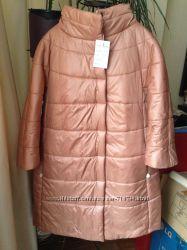 Персиковое пальто  р. 52
