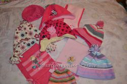 шапки и шарфики Минни Пеппа принцессы 1-4 года