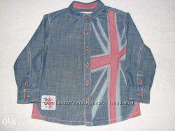 NEXT SIGNATURE Джинсовая рубашка, р. 104