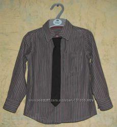 MOTHERCARE Стильная нарядная рубашка с галстуком для мальчика  2-3 лет