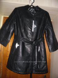 Подовжена куртка із PU шкіри