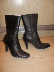 Сапоги, битильоны, ботинки кожаные черные 36-37 р