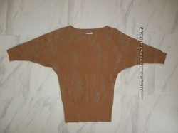 Кофта, свитер С-ка рыжая с люриксом