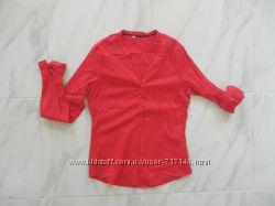 Рубашка красная, алая С-ка хлопок