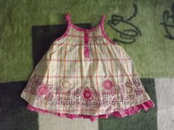 Фирменное платье - сарафан на малышку 3-6 месяцев