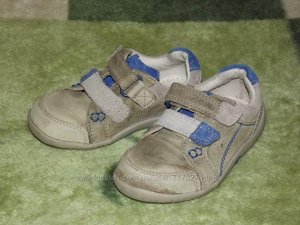 Фирменные, кожаные туфли Clarks, Кларкс, размер 5. 5F, стелька 14-14, 2 см