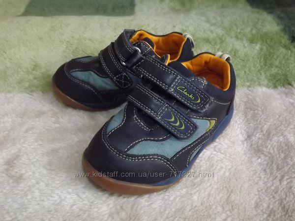 Фирменные, кожаные туфли Clarks, Кларкс, размер 5H, стелька 13-13, 5 см