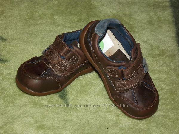 Фирменные, кожаные туфли Clarks, Кларкс, размер 5G, стелька 13. 5-13. 8 см