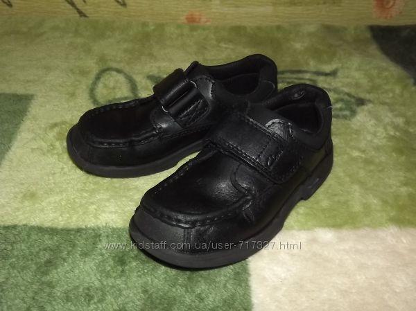 Кожаные туфли, ботинки, ботиночки демисезонные Clarks, стелька 19-19, 3 см