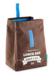 Термосумка для ланча Lunch Bag размер L коричневый