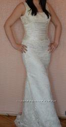 Новое свадебное платье цвета слоновая кость размер L 46-48