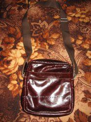 Мужская сумочка через плечо, барсетка Натуральная кожа