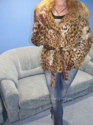 Супер цена Эксклюзивная шуба из липпи карликового леопарда . Италия.