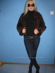 Бомбезная, стильная шуба-куртка из стриженого бобра Новая