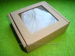 Коробка для пряников, конфет, мыла. Этикетки-наклейки Hand Made