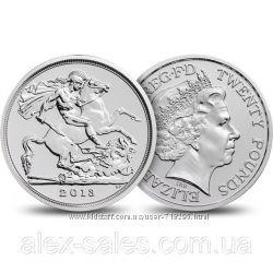 20 фунтов стрелингов 2013 года - монета серебро 999 фунты