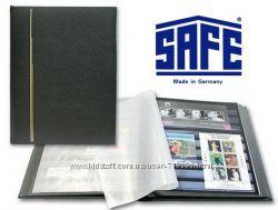 Альбом для марок - кляссер SAFE Германия НАТУРАЛЬНАЯ КОЖА