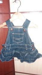 GAP джинсовый сарафан от 0 до 3 мес идеал. сост