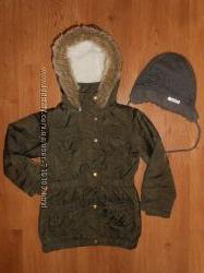 Теплая деми курточка девочке George 3-5лет