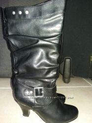 Сапоги женские осенние, черные, 36 размер. цена снижена