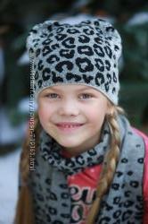 Шапочка и шарфик для девочки