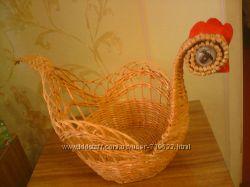 Хлебницы, мельница, сумочка, вазочка-ручной работы из бумажных трубочек