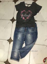 Классные укорочённые джинсы Bershka