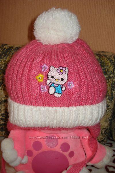 Теплая зимняя шапочка на 12-18 мес. Сост отл.