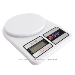Весы кухонные SF-400 7 кг, 5 кг, 10 кг  батарейки, кантер