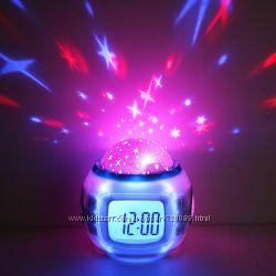 Часы проектор Метеостанция 8190, часы проектор звёзд