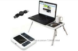 Столик подставка для ноутбука с двумя USB кулерами с двумя USB кулерами
