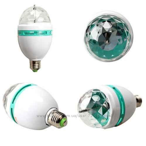 Led-лампа LY-399 для дискотек и дома  переходник