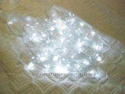 Гирлянда LED  200 ламп- белый, желтый и голубой, 300 ламп-белый и  голубой