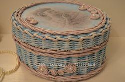 Плетеные шкатулки ручной работы