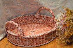 Плетеные корзинки, подносы для кухни ручной работы