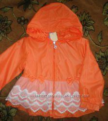 Легкая курточка ветровка плащ с капюшоном