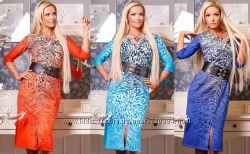 Строгое платье длиной миди - Размеры 42-44, 46-48  Производитель МЕДИНИ