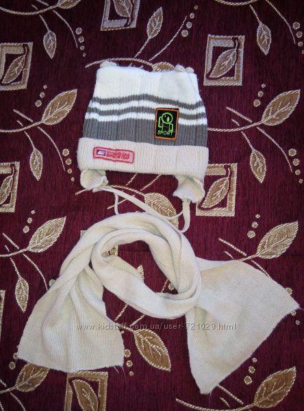 Шапка и шарф Anpa на 1-2 года
