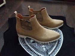 Красивые ботиночки челси, Италия, натуральная замша.