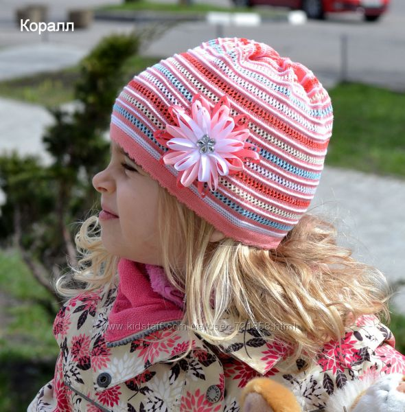 Ажурная шапочка Радуга