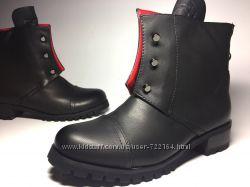Женские чёрные ботинки Hermes