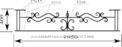 Кованая оградка в наличии