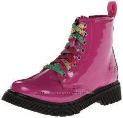 Американские демисезонные ботинки для девочек от фирмы Скетчерс - оригинал