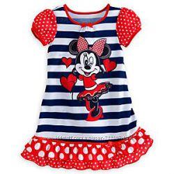 Диснеевские качественные пижамы и ночнушки Мини Маус для девочек 3-4 года