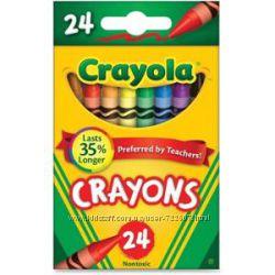 Карандаши Crayon colors от Crayola 24 шт. восковые Крейола