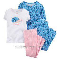 Пижамы для девочек от фирмы Carters 2 комплекта в одном наборе