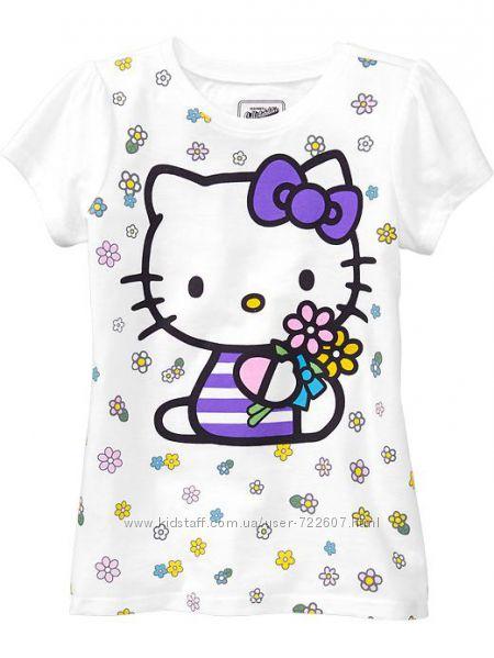 Футболки для девочек Hello Kitty белые от  фирмы Old Navy