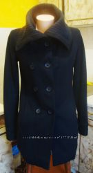 пальто темно-синее Only XSS 50шерсть, 46полиэстер, 4вискоза