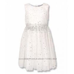Нарядное белое платье в пайетки GYMBOREE